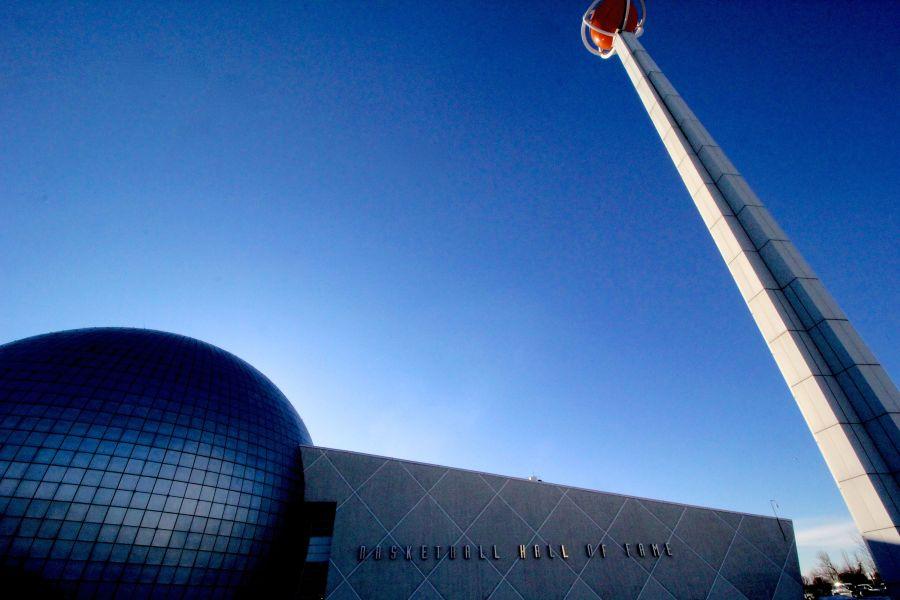 Springfield Naismith Memorial Basketball Hall of Fame outside 3