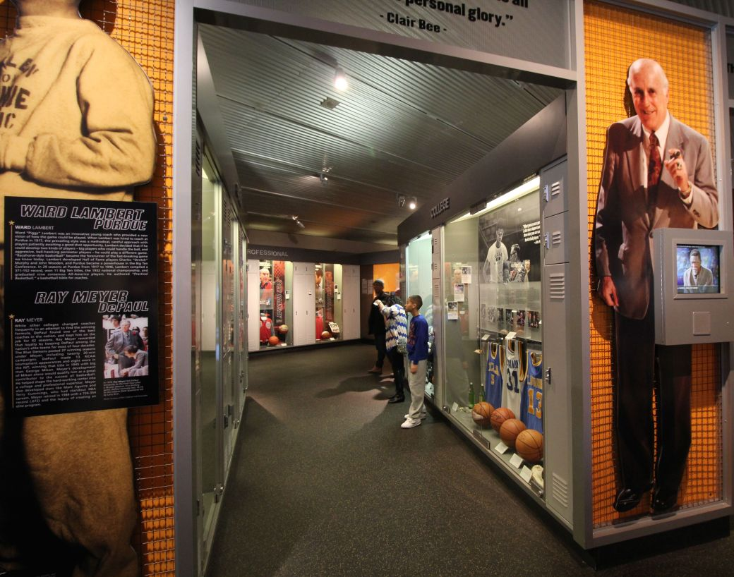 Springfield Naismith Memorial Basketball Hall of Fame red auerbach coach's exhibit