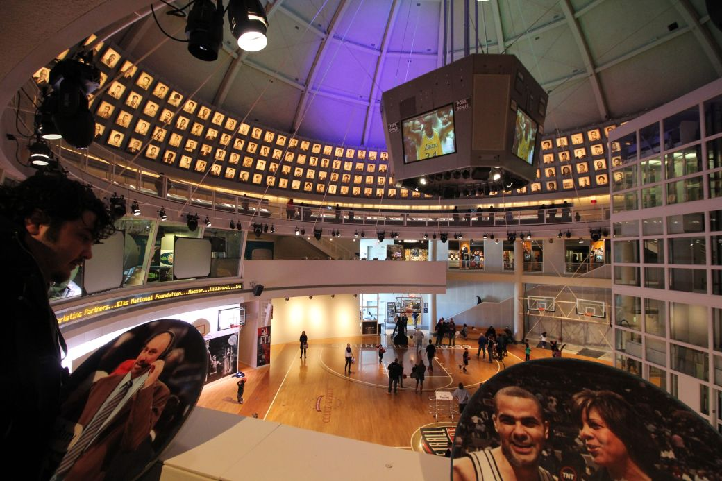Springfield Naismith Memorial Basketball Hall of Fame round broadcasters