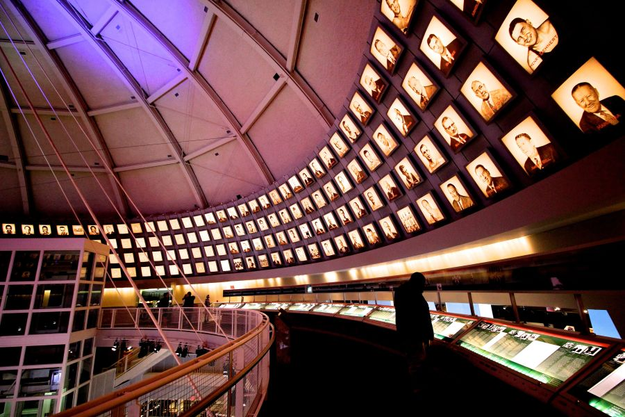 Springfield Naismith Memorial Basketball Hall of Fame round pictures