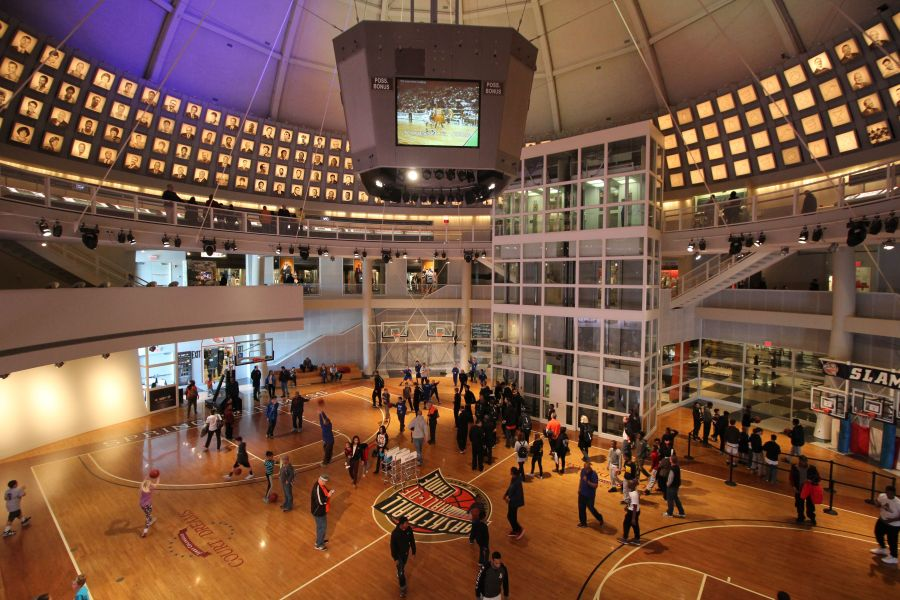 Springfield Naismith Memorial Basketball Hall of Fame whole view