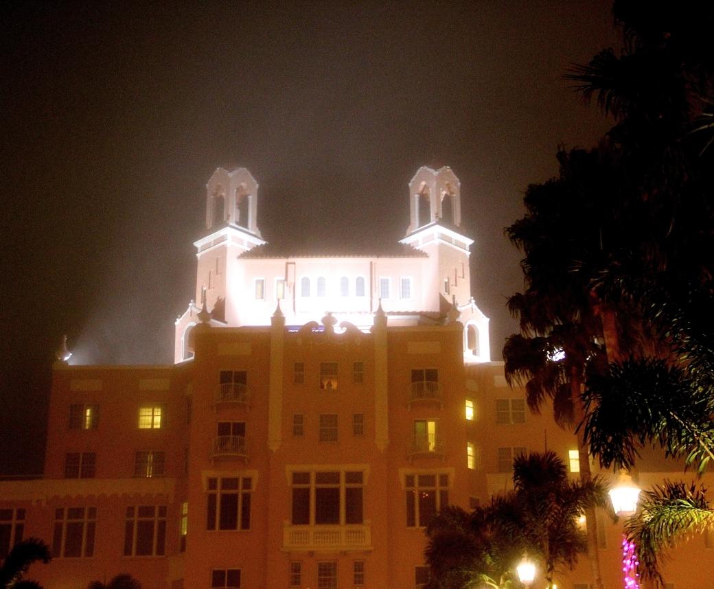 st pete beach Loews Don CeSar Hotel fog night 2