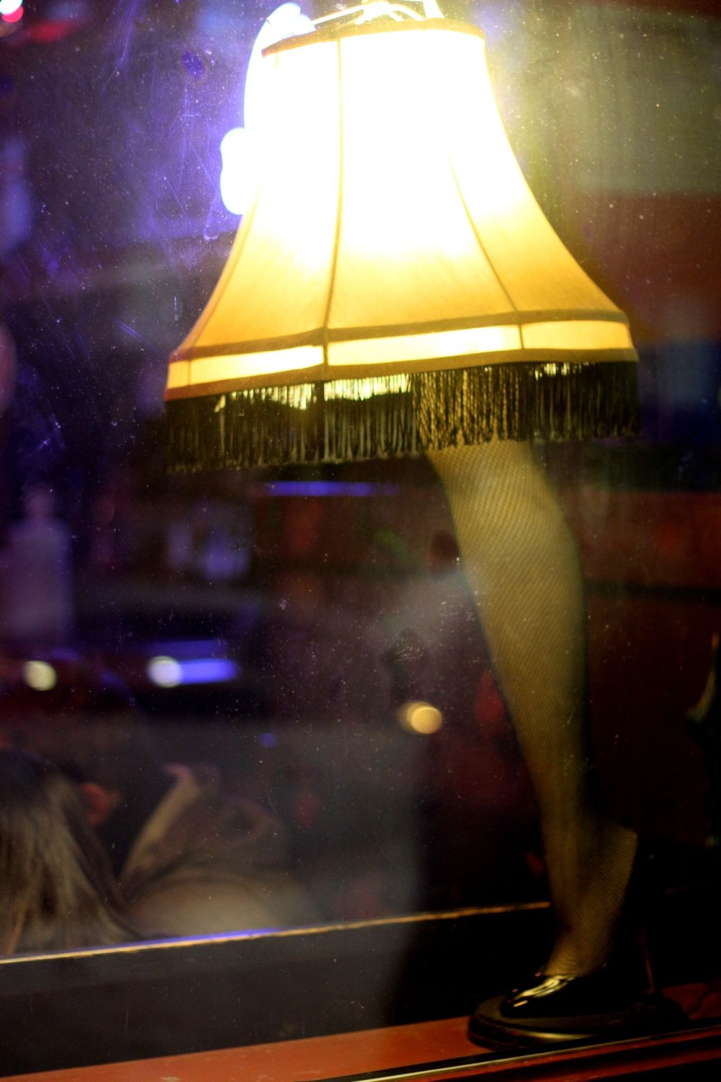 boston boylston street leg lamp
