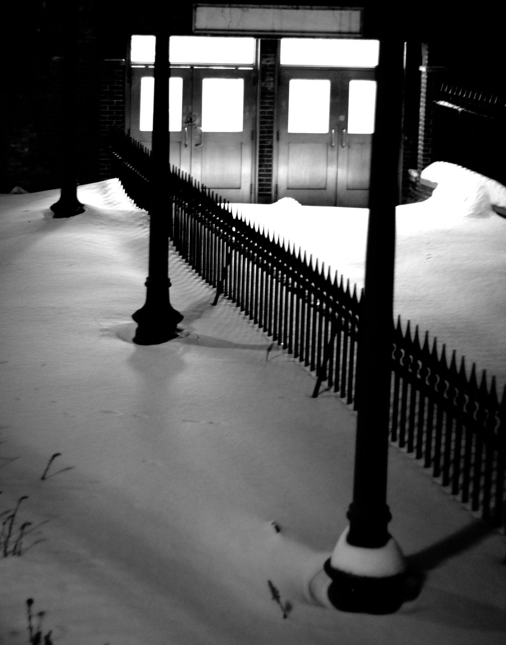 boston boylston street station entry snow