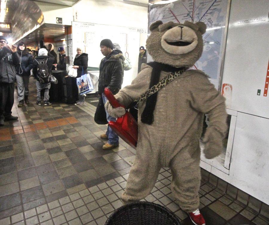 boston downtown crossing station keytar bear 2