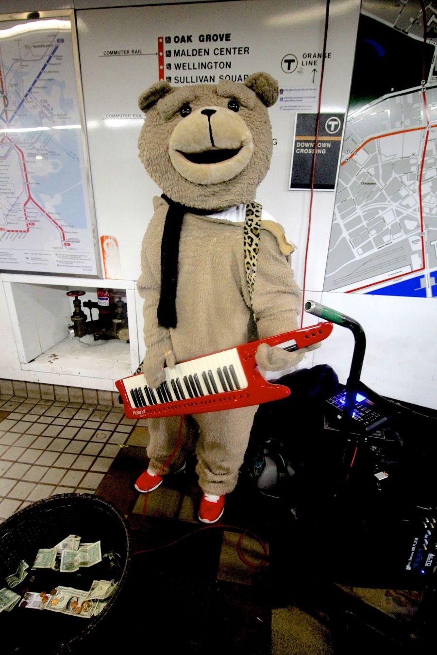 boston downtown crossing station keytar bear 5