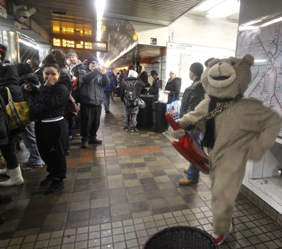 boston downtown crossing station keytar bear