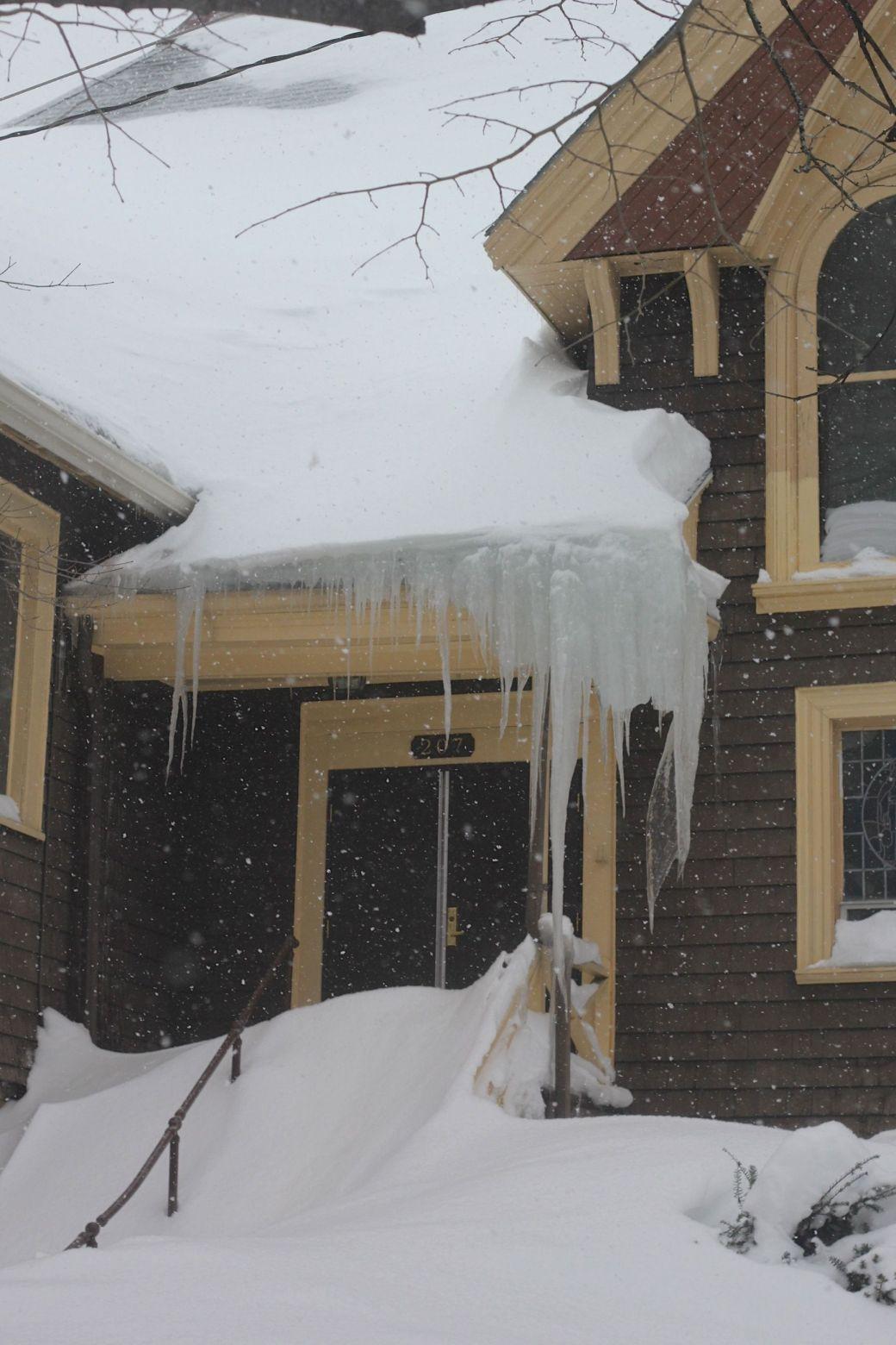 boston jamaica plain winter february 17 2015 church icicles