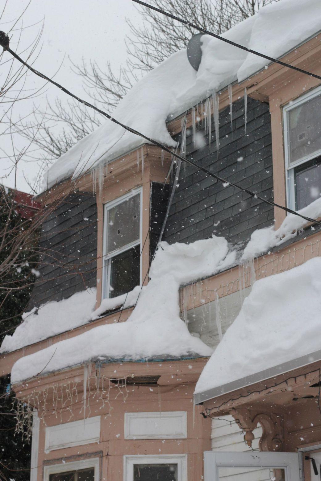 boston jamaica plain winter february 17 2015 house icicles