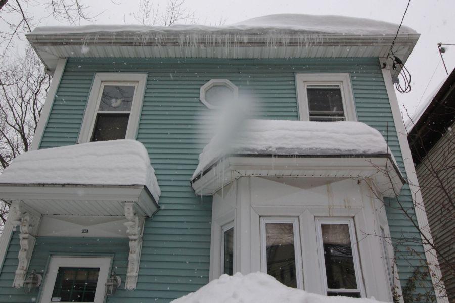 boston jamaica plain winter february 17 2015 house snow icicles