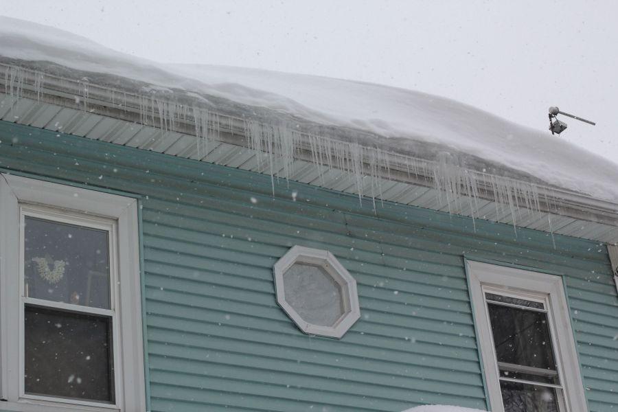 boston jamaica plain winter february 17 2015 icicles house blue