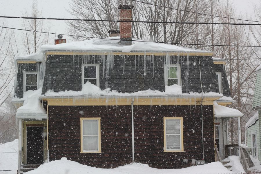 boston jamaica plain winter february 17 2015 icicles house snow