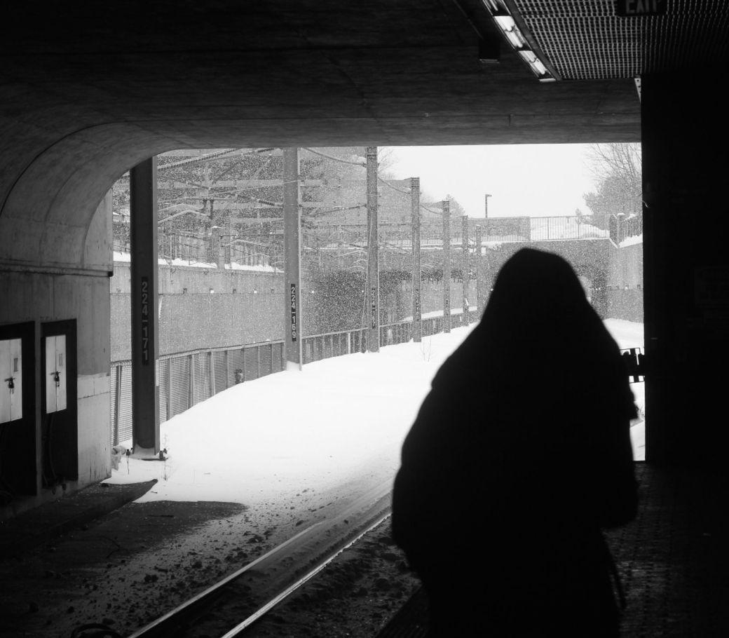 boston jamaica plain winter february 17 2015 stony brook station snow tracks