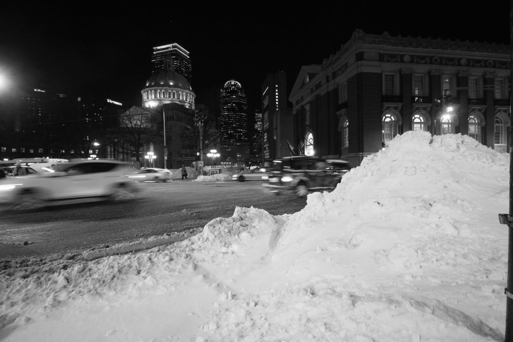 boston massachusetts avenue christian science church snow pile
