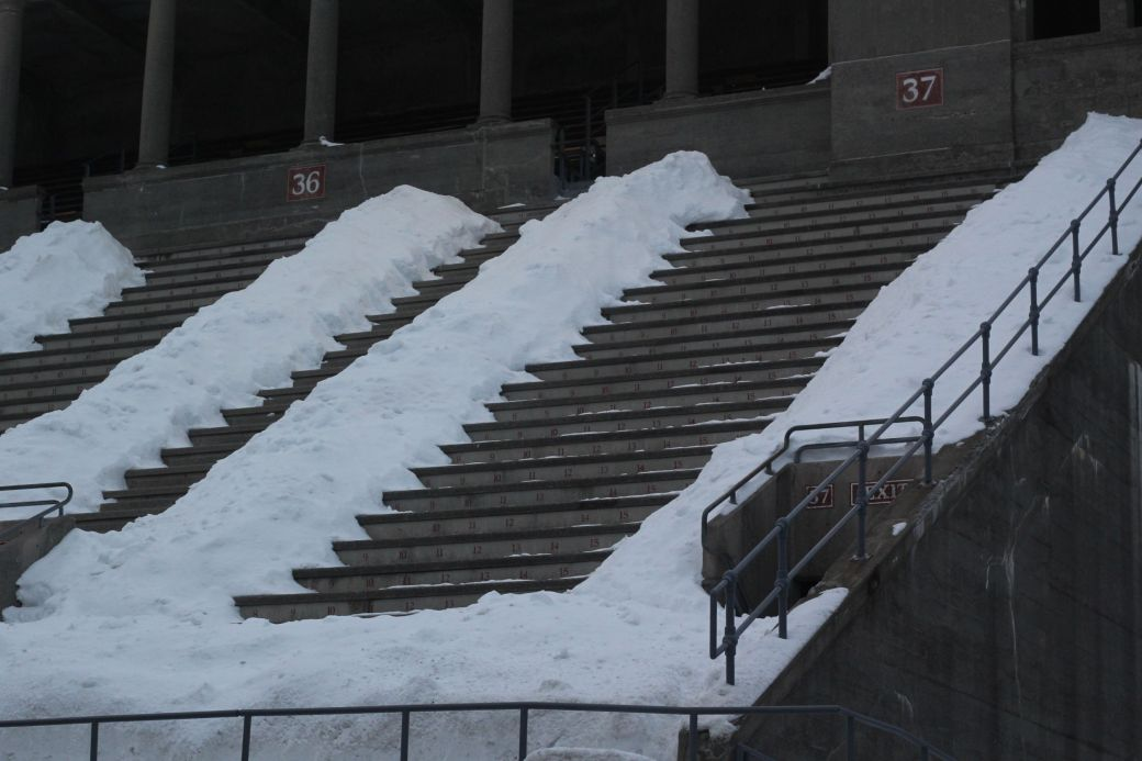 cambridge harvard harvard stadium snow february 19 2015 10