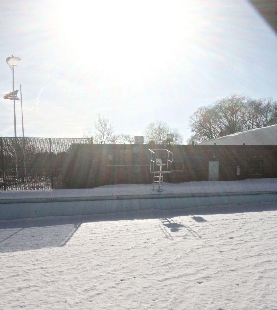 boston chestnut hill swimming pool snow