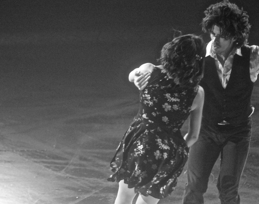 providence dunkin donuts center stars on ice march 14 2015 british pair black white 2