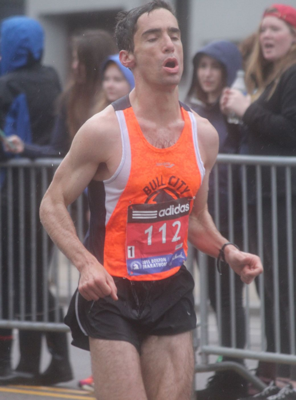 boston marathon april 20 2015 racer number 112 man 2