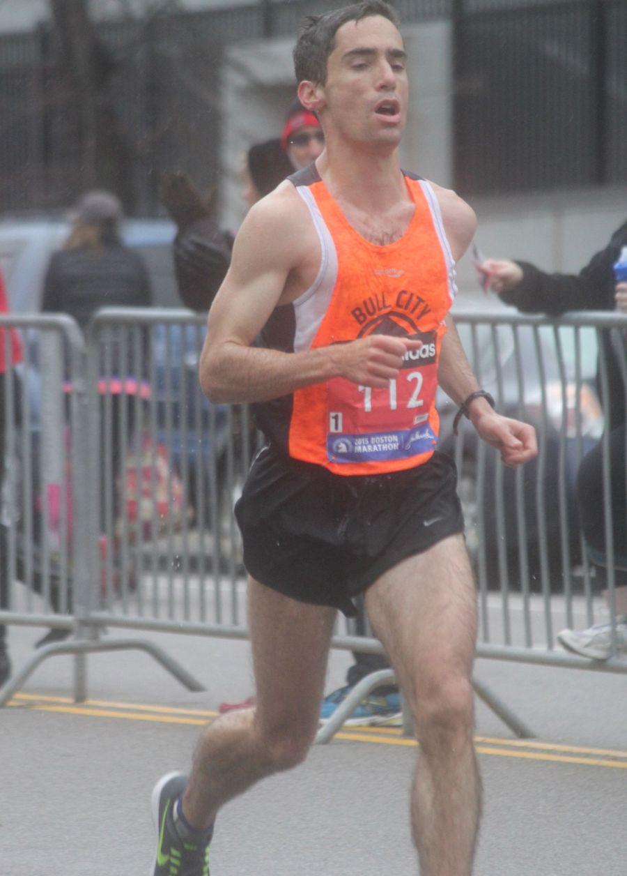 boston marathon april 20 2015 racer number 112 man