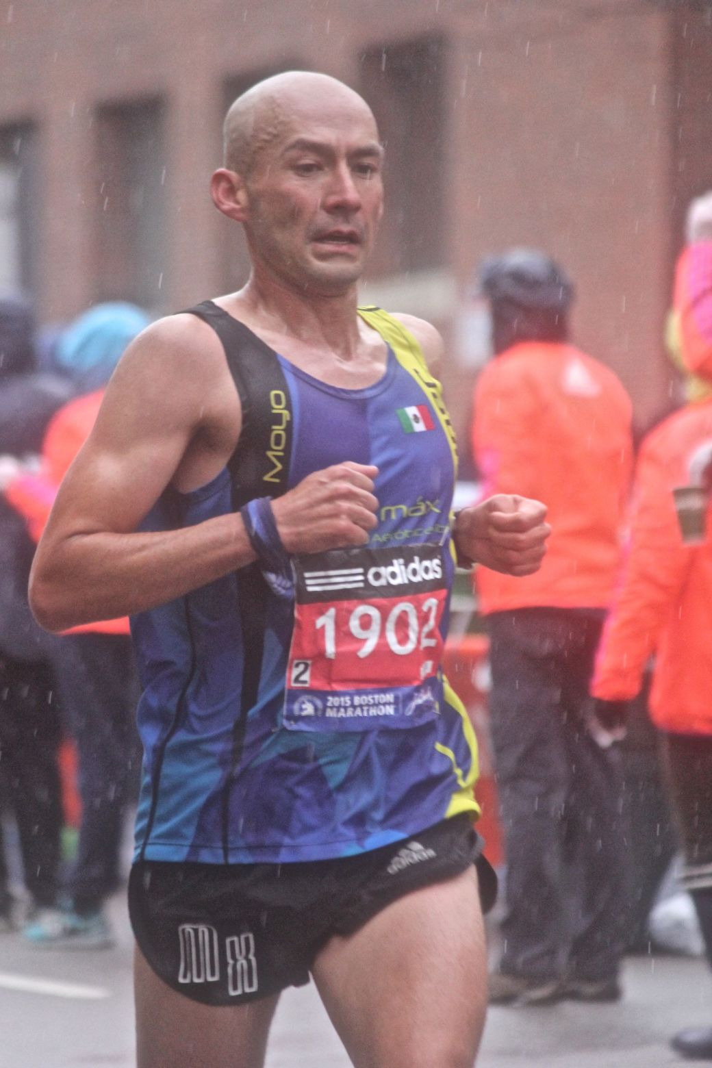 boston marathon april 20 2015 racer number 1902 rain