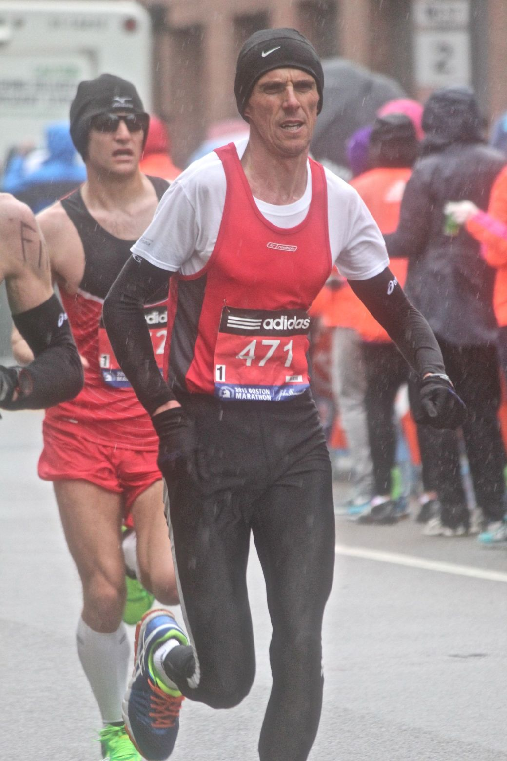 boston marathon april 20 2015 racer number 471 rain
