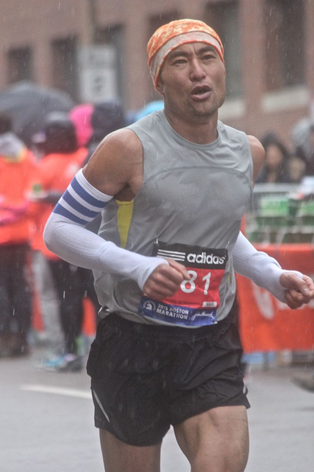 boston marathon april 20 2015 racer number 681 rain