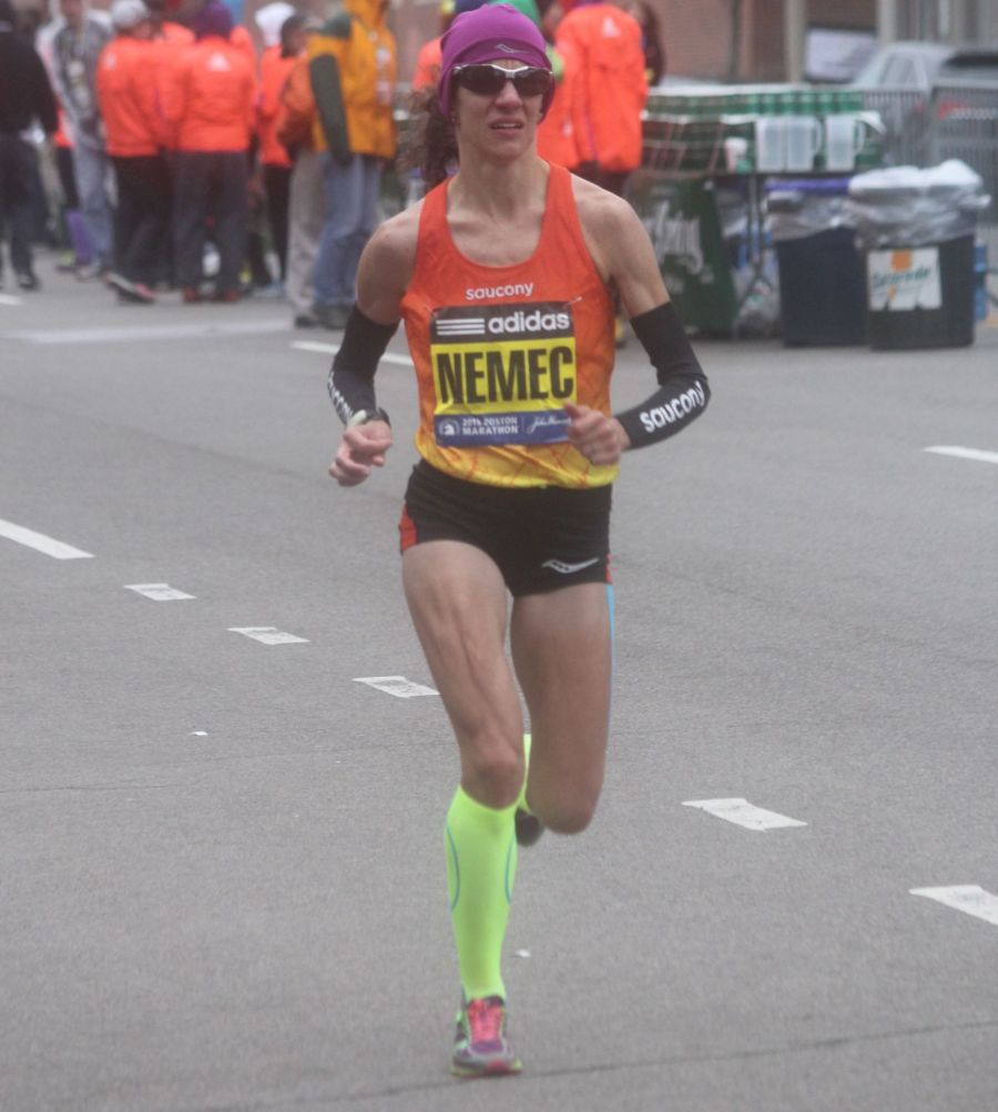 boston marathon april 20 2015 womens elite race lisa nemec