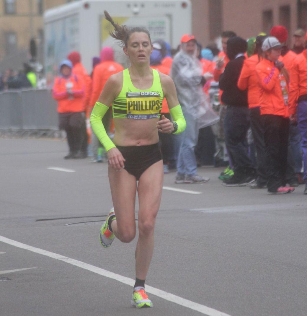boston marathon april 20 2015 womens elite racers Jenni Phillips
