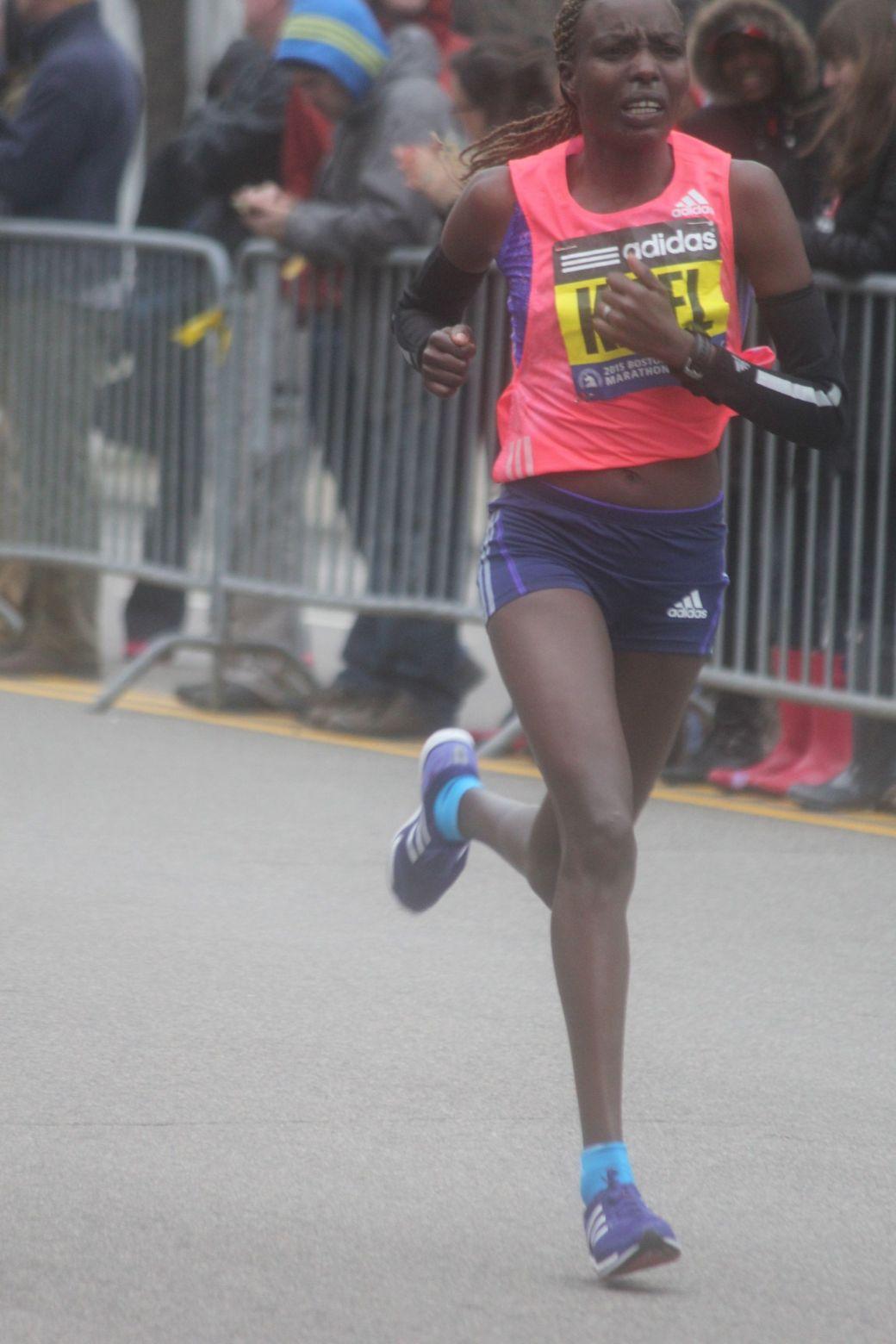 boston marathon april 20 2015 womens elite runner caroline kilel 2