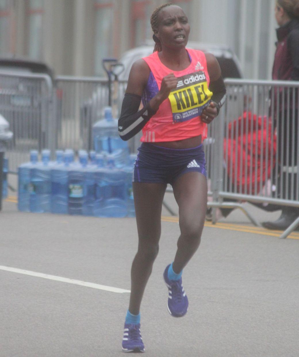 boston marathon april 20 2015 womens elite runner caroline kilel