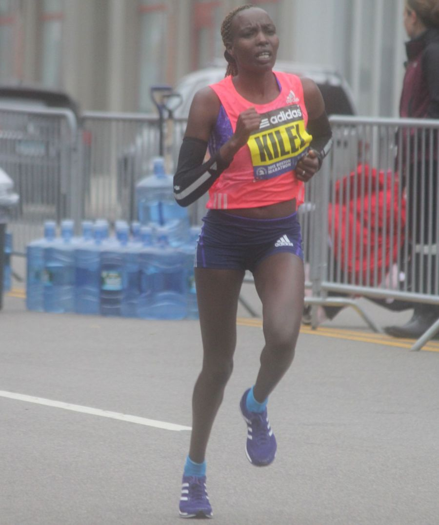 boston marathon april 20 2015 womens elite runner caroline kilel