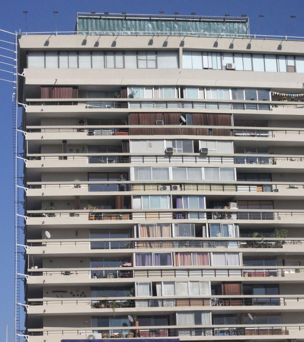 chile santiago apartment building blue sky
