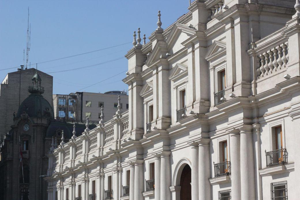 chile santiago government house la moneda back
