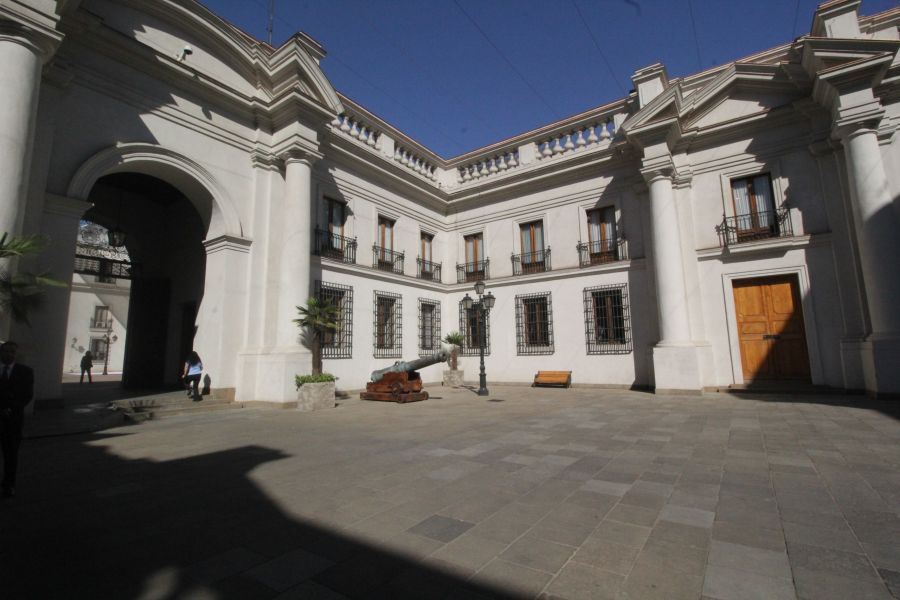 chile santiago government house la moneda courtyard