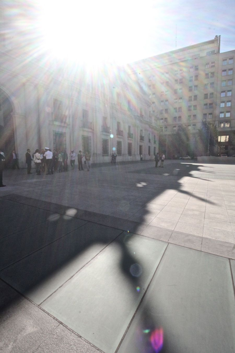chile santiago government house la moneda outside sun