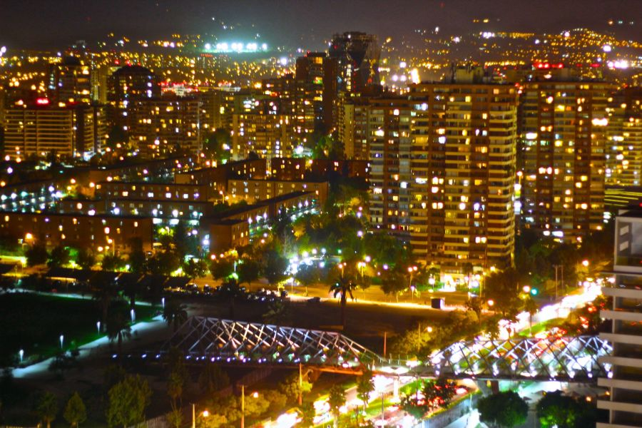 chile santiago night view 2