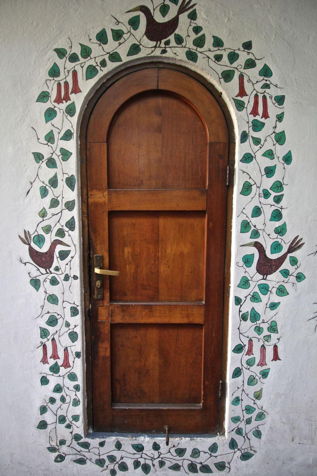 chile santiago pablo neruda house door mural 1