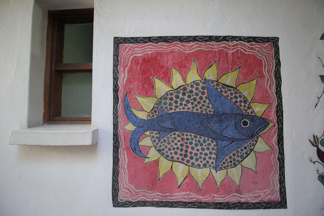 chile santiago pablo neruda house mural 2