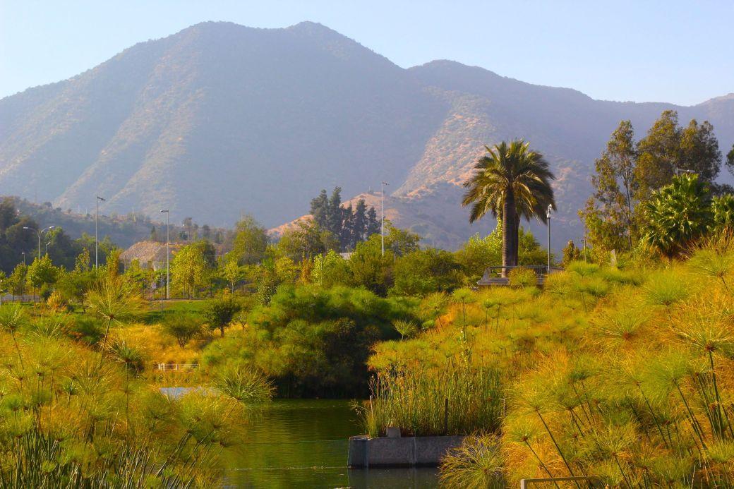 chile santiago park mountains andes