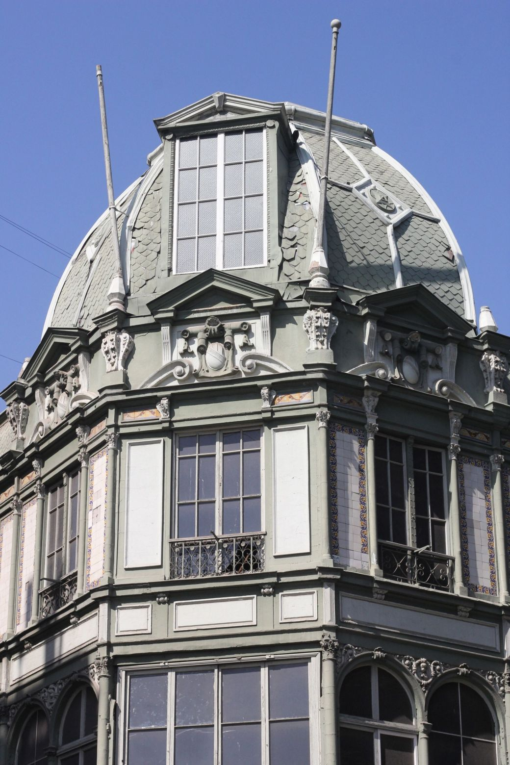 chile santiago plaza de armas building round roof