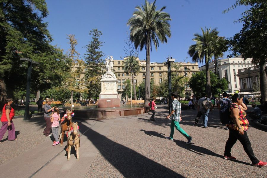 chile santiago plaza de armas center