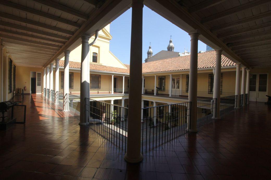 chile santiago plaza de armas national museum inside upstairs view