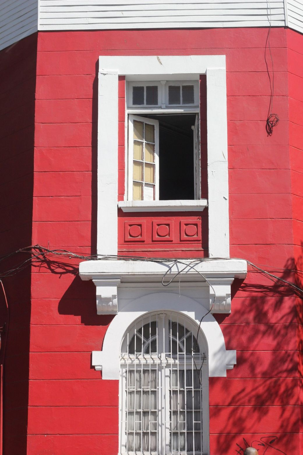 chile santiago red building