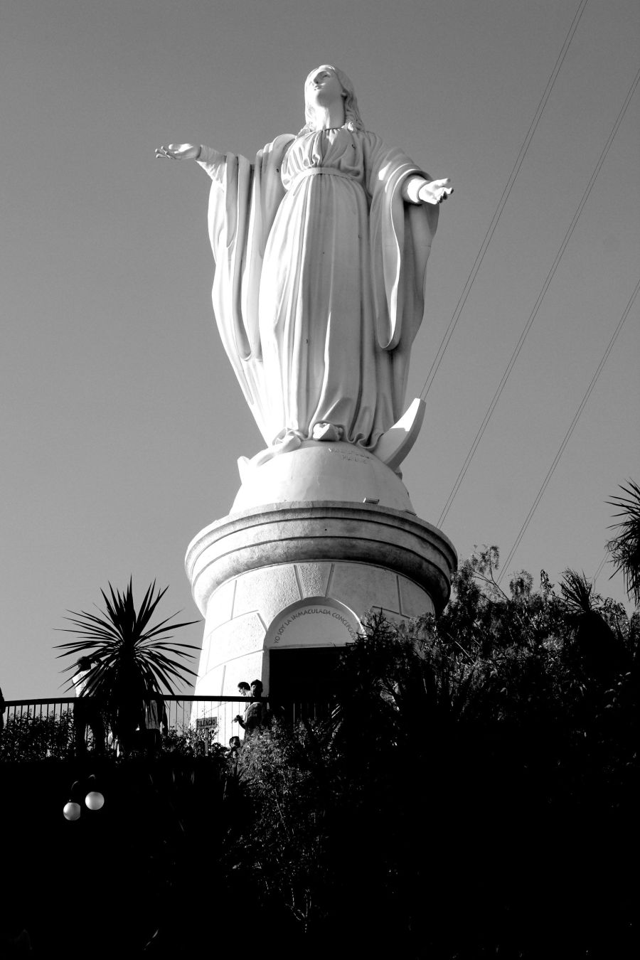 chile santiago san cristobal hill virgin
