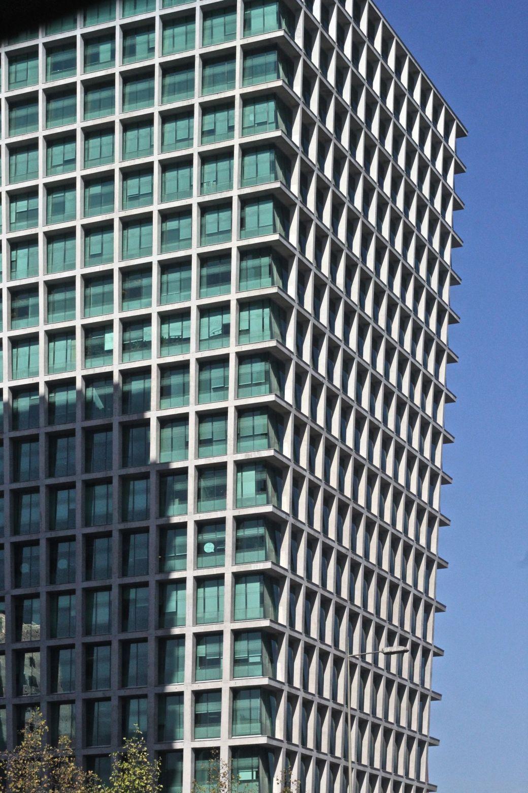 chile santiago trapezoid building