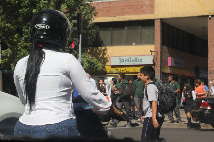 chile santiago woman on motorcycle