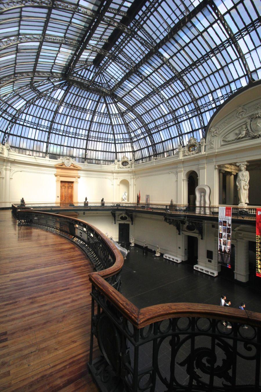 santiago chile bellas artes museum balcony