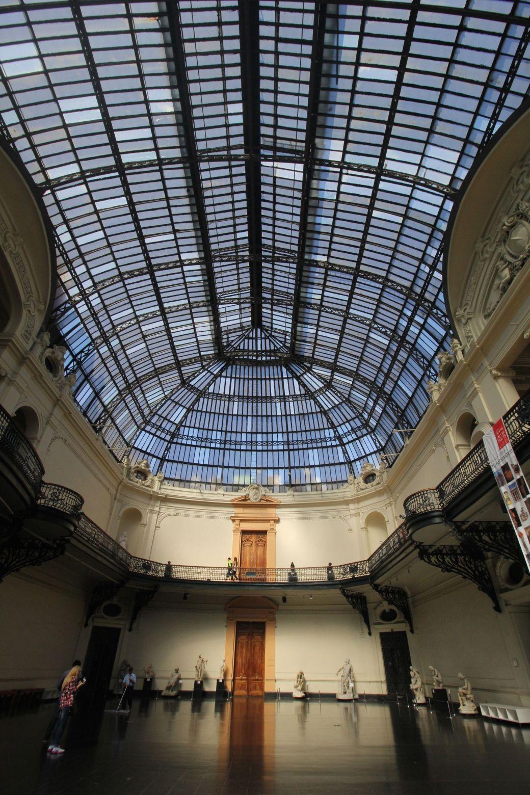 santiago chile bellas artes museum inside