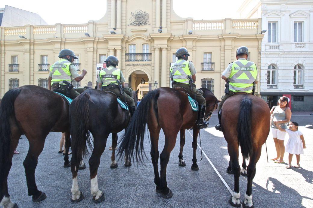 santiago chile national museum policemen