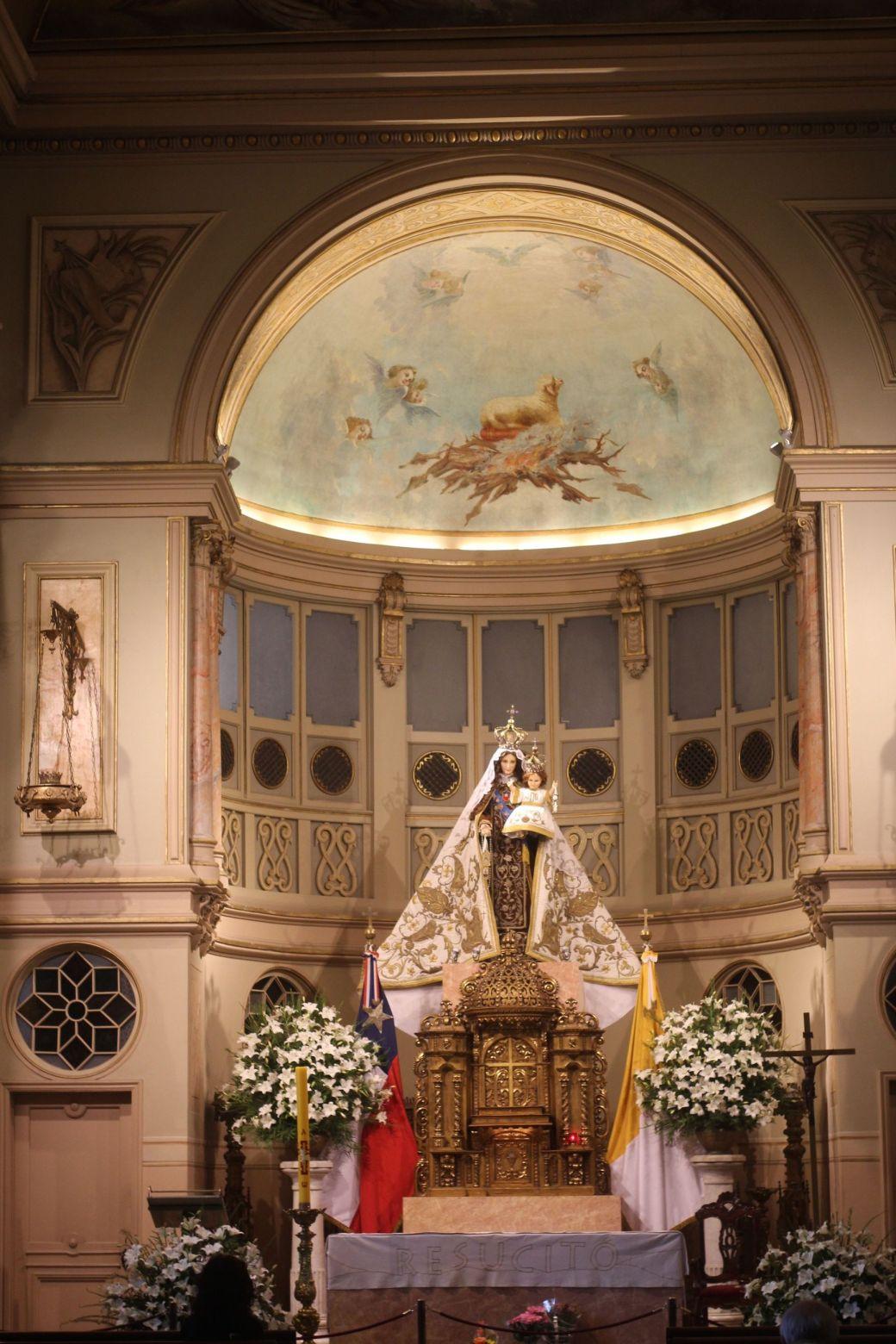 santiago chile plaza de armas altar
